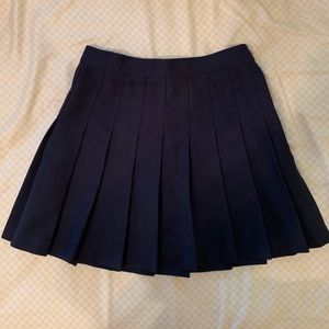 AMERICAN APPAREL NAVY TENNIS SKIRT